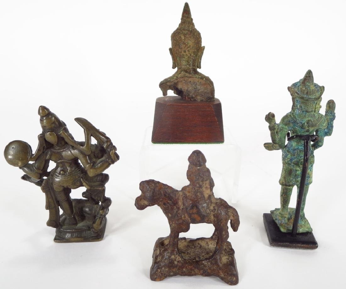 Group of Four Asian Bronze and Iron Figures - 2