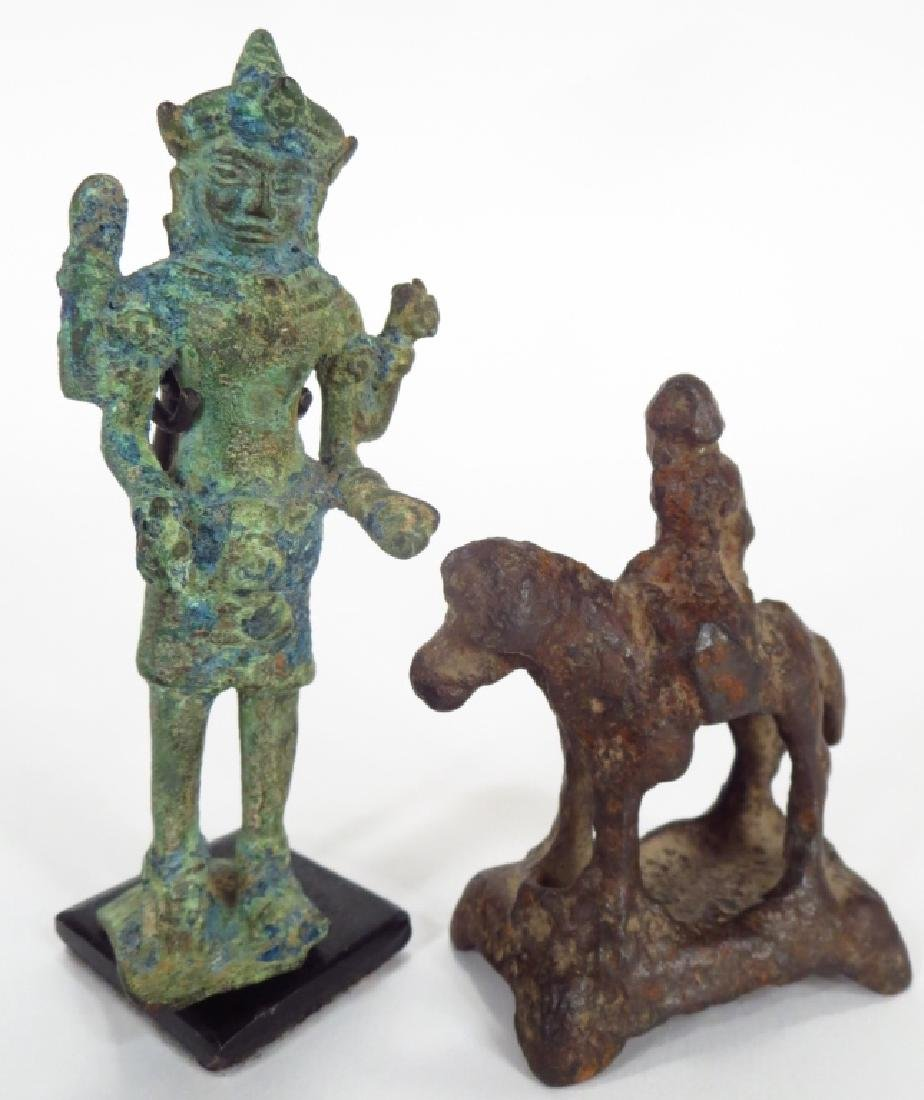 Group of Four Asian Bronze and Iron Figures - 4