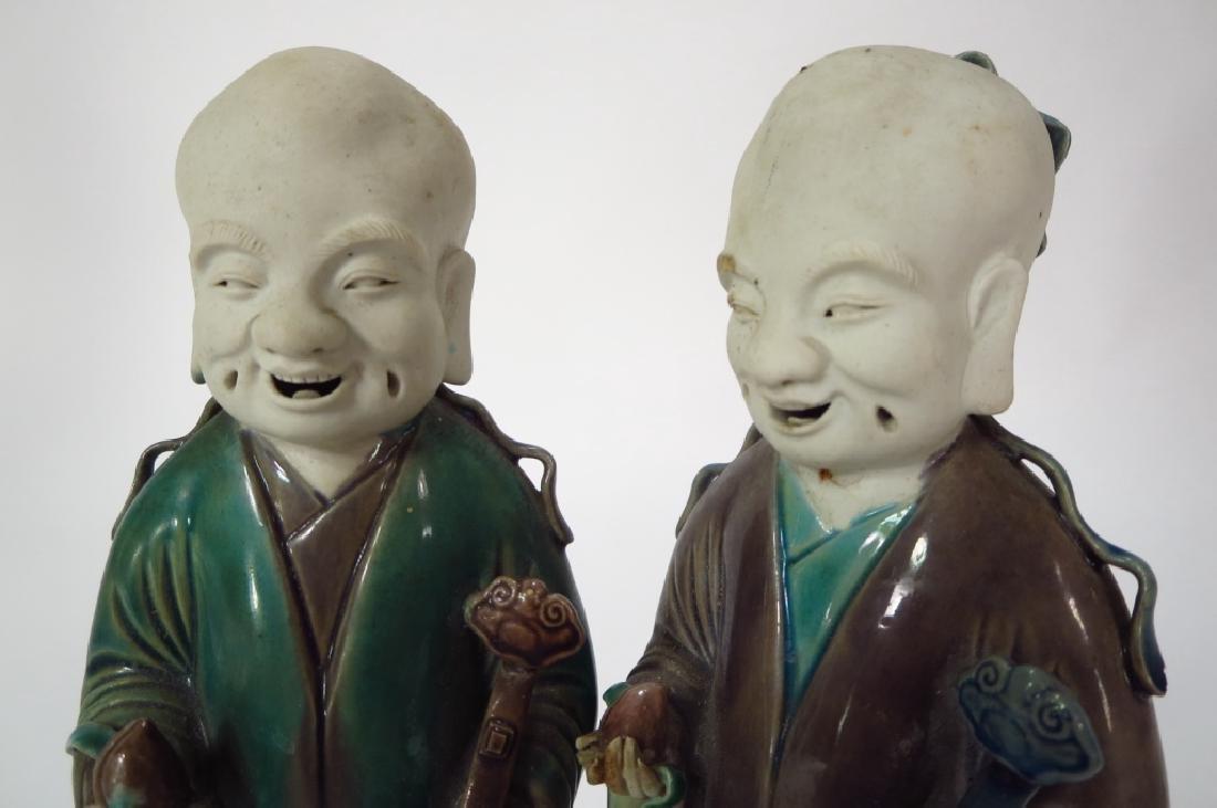 Pair of Glaze Ceramic Chinese Sages, 19th C.,et al - 4