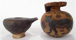Ancient Greek Antiquities,Aryballos & Lamp Filler