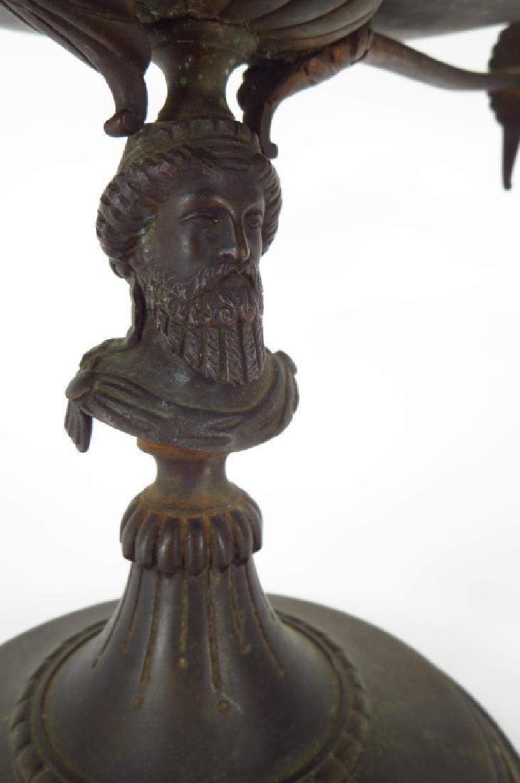 Neoclassical Tazza, Brass on Stone Base - 2