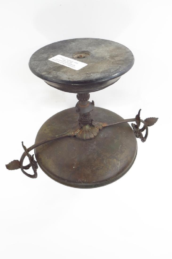 Neoclassical Tazza, Brass on Stone Base - 5