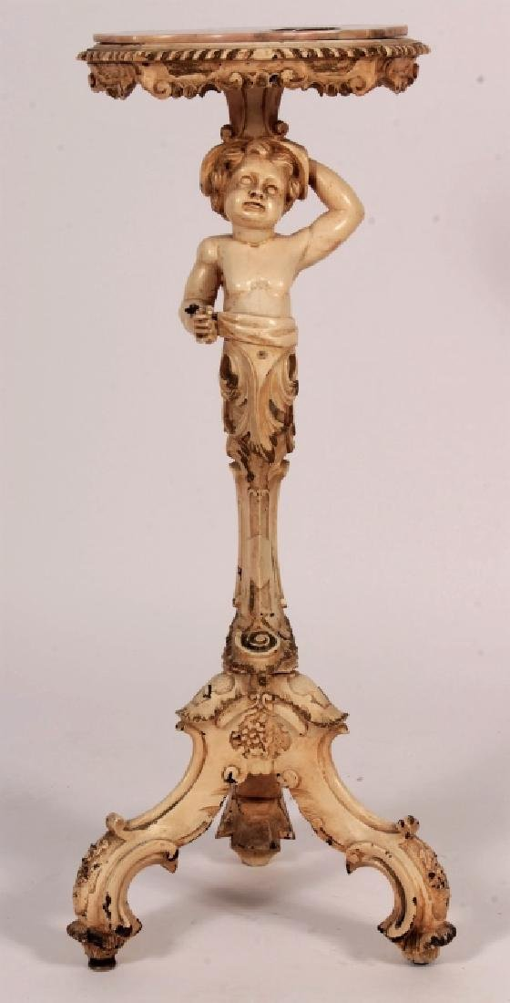 Stand with Putto and Marble Top, 19th/20th c