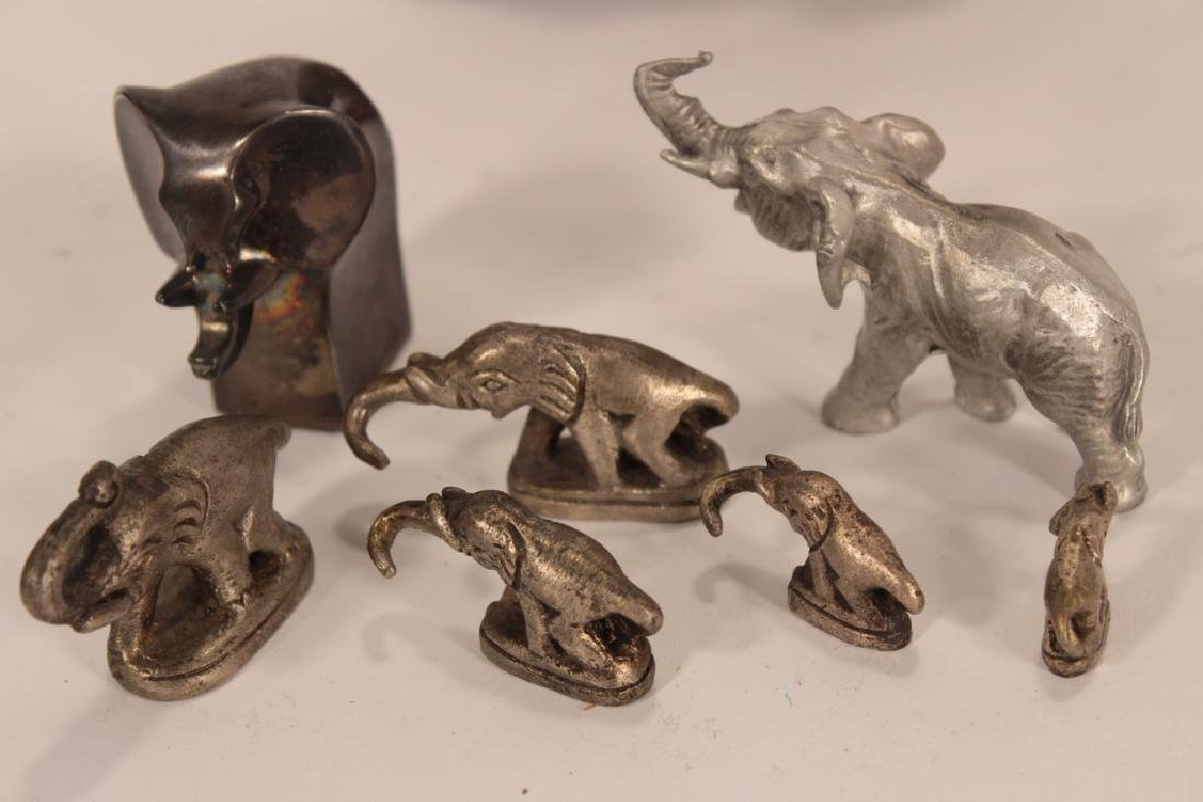 Collection of 30 Elephants, Various Materials - 2