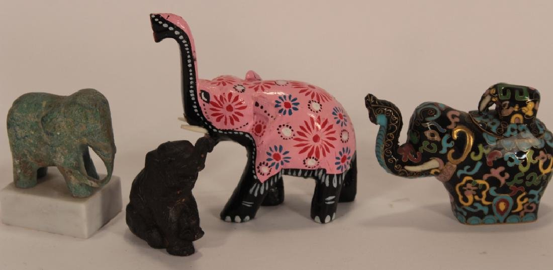 Collection of 30 Elephants, Various Materials - 5