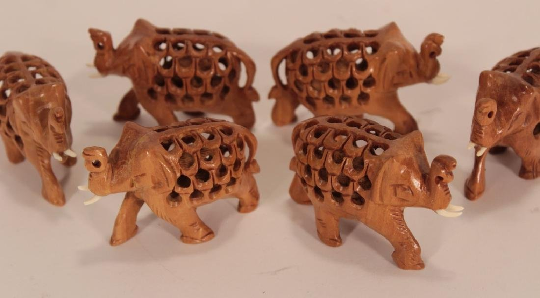 Collection of 30 Elephants, Various Materials - 6