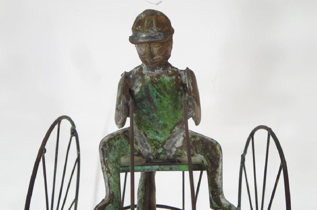 Copper Horse & Sulky Weathervane Sculpture, 20th C - 3