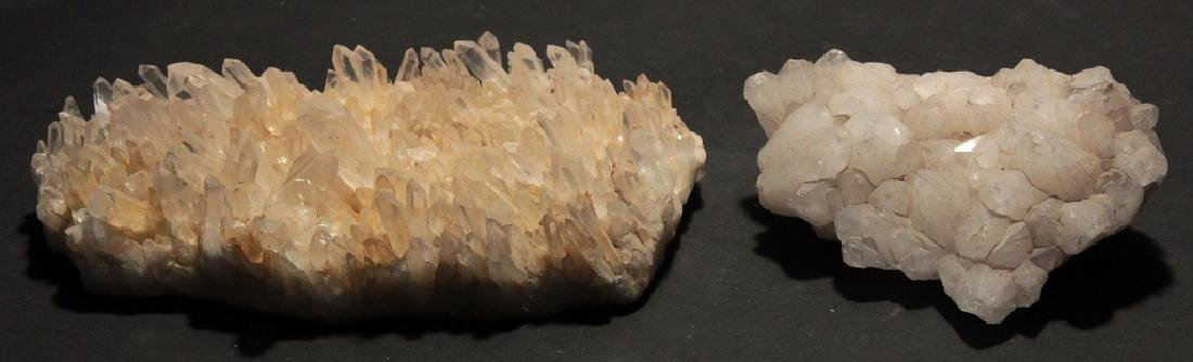 Lot of 2 Quartz Crystal Clusters