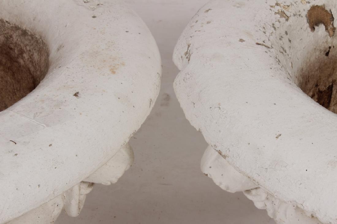 Pair of Cast Iron Planters w Lion's Heads, 19th C - 3