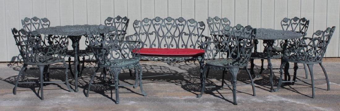 Victorian-Style Cast Aluminum Garden Furniture