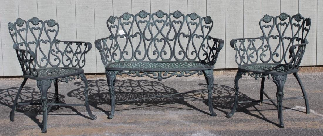 Victorian-Style Cast Aluminum Garden Furniture - 4