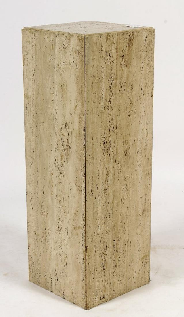 Tall Travertine Display Pedestal