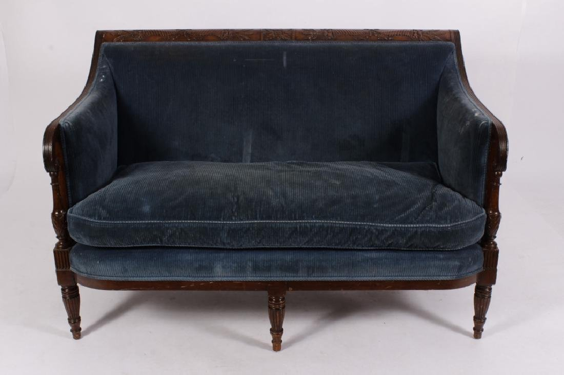 Federal Style Mahogany Settee - 2