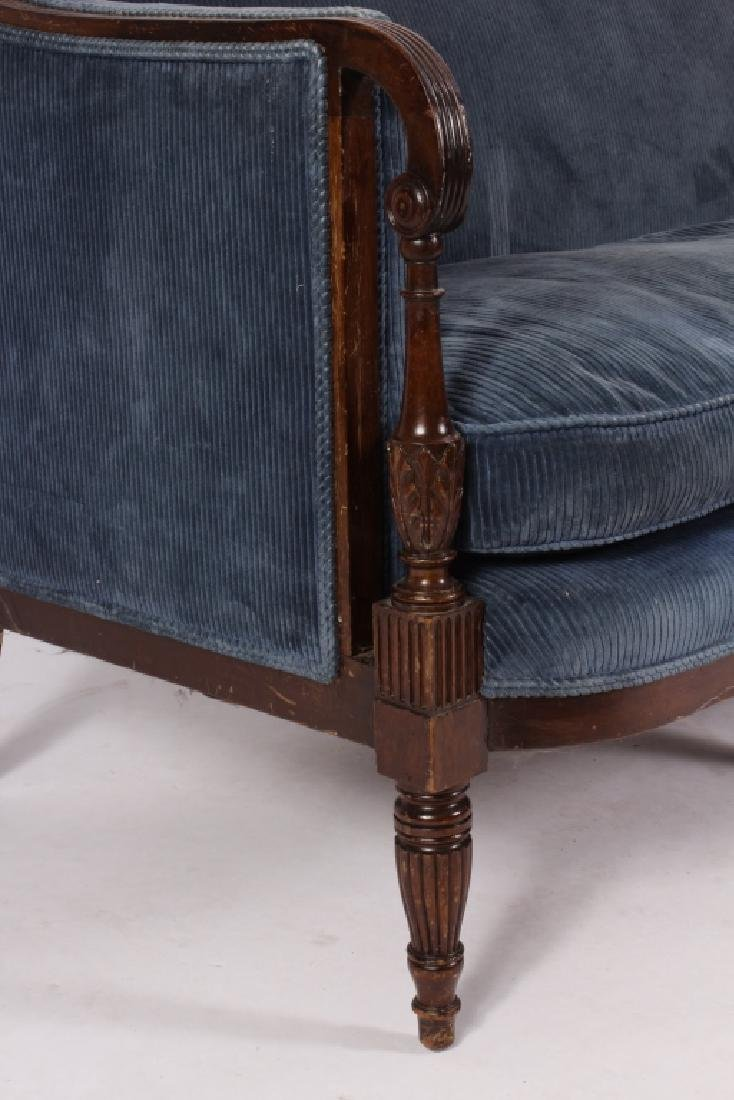 Federal Style Mahogany Settee - 3