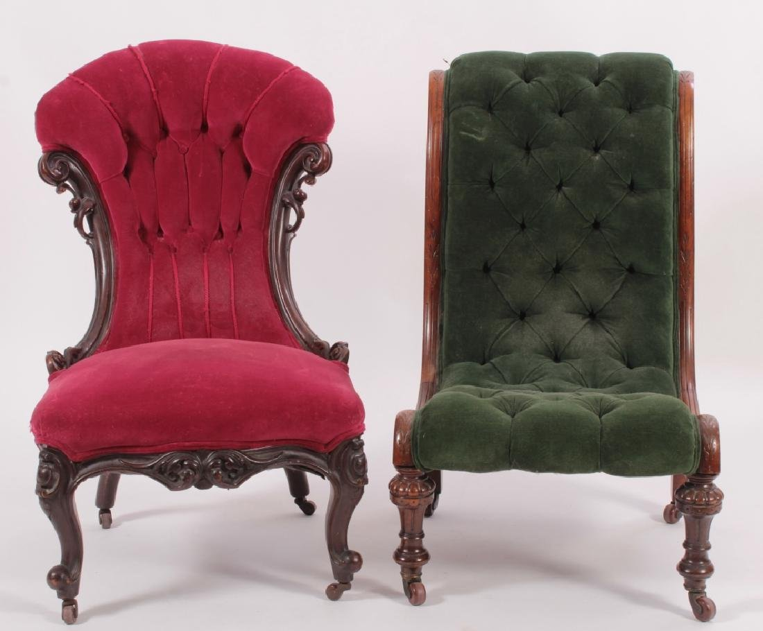 Two Carved Victorian Chairs
