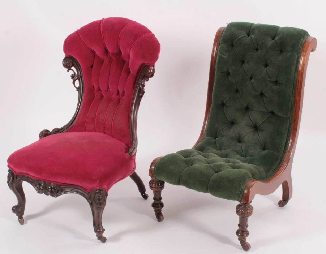 Two Carved Victorian Chairs - 2