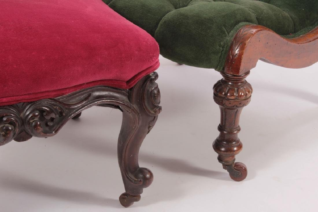 Two Carved Victorian Chairs - 3