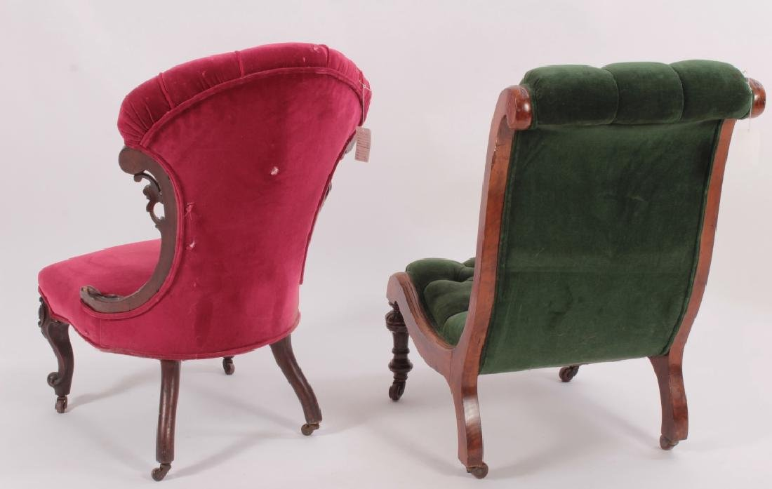 Two Carved Victorian Chairs - 6