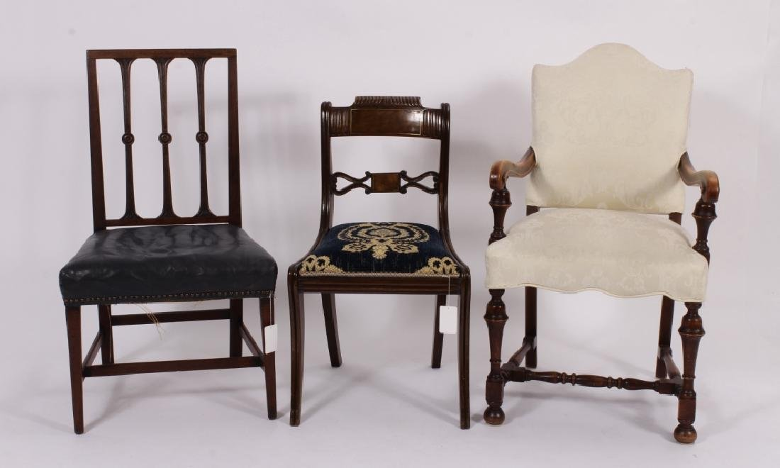 3 19th C. Chairs,Georgian,Regency & Sheraton