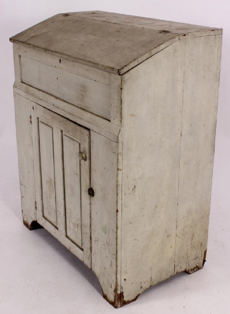 Teacher's Desk Painted White American 19th C. - 2