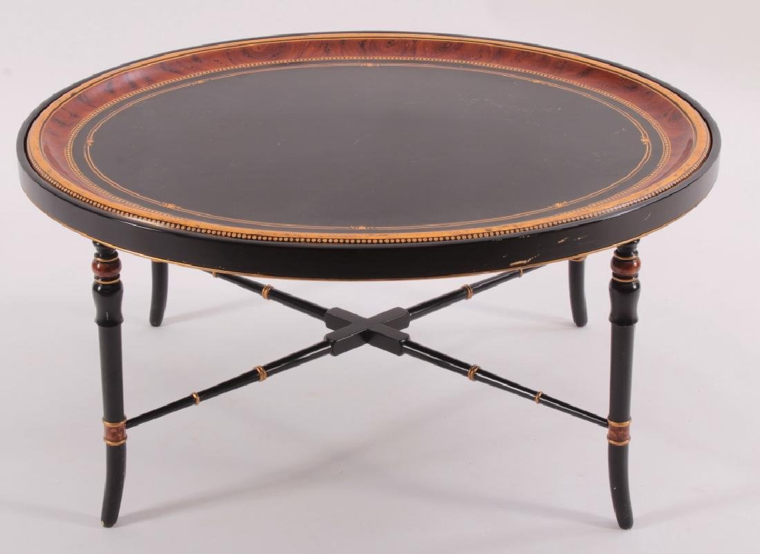 "Decorative Oval 'Tray"" Style Coffee Table, 20th C."