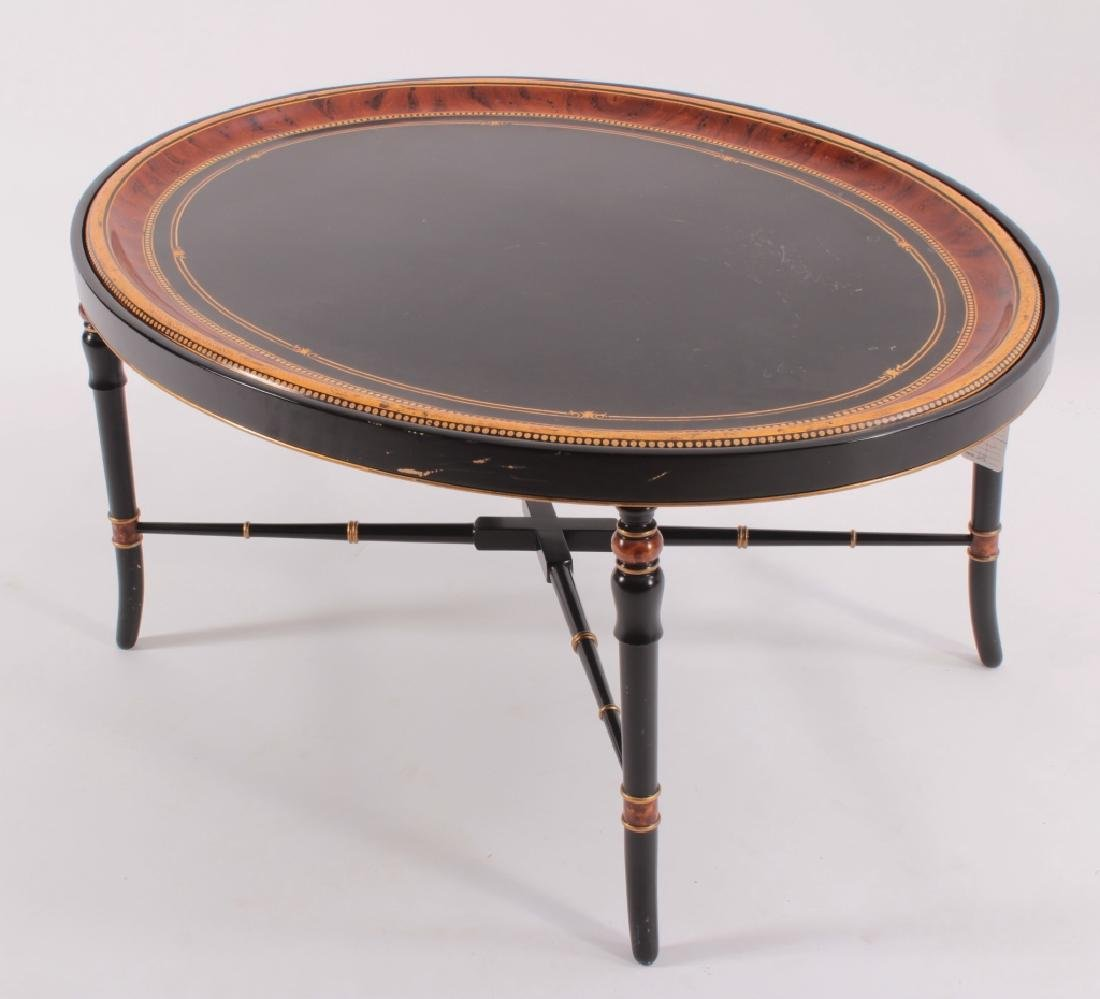 "Decorative Oval 'Tray"" Style Coffee Table, 20th C. - 2"
