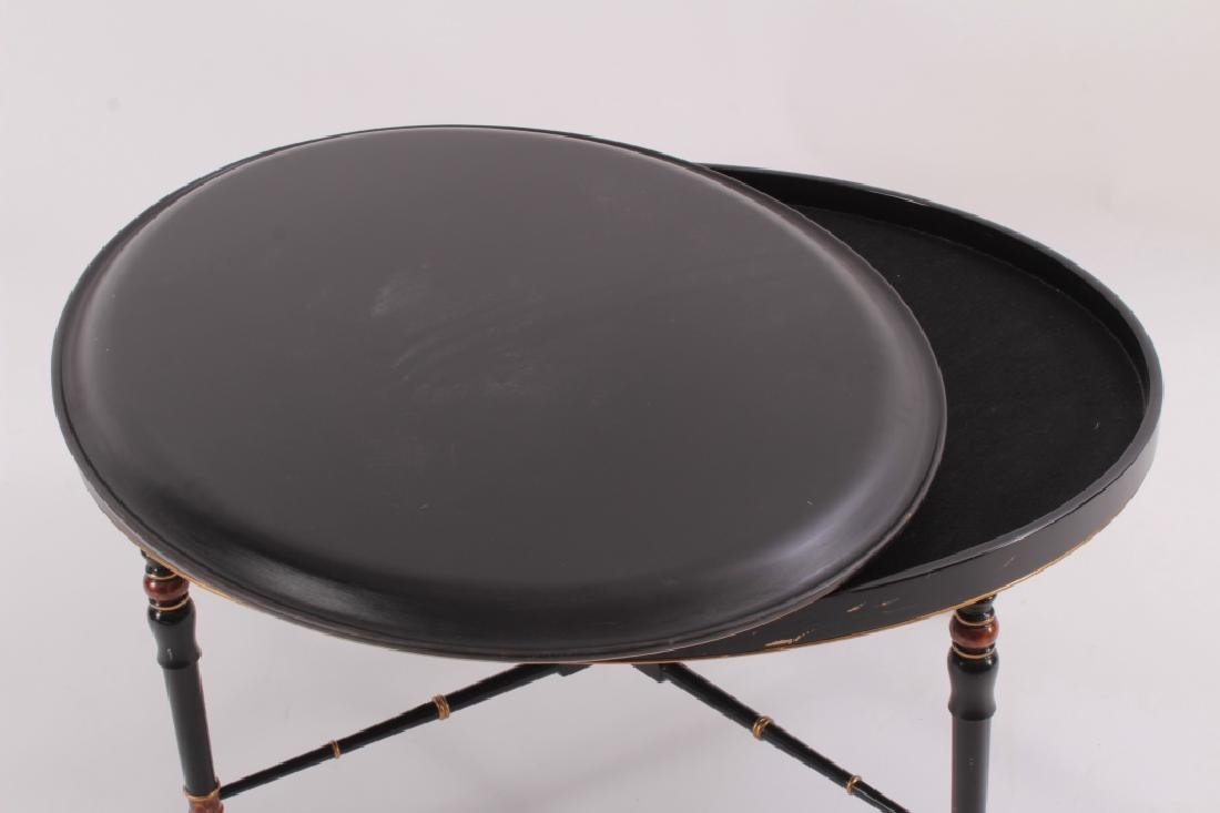 "Decorative Oval 'Tray"" Style Coffee Table, 20th C. - 5"