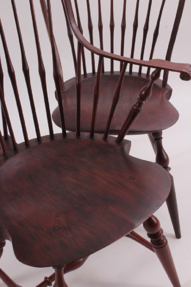 Set of 10  Windsor Dining Chairs, Signed PM 1985. - 3