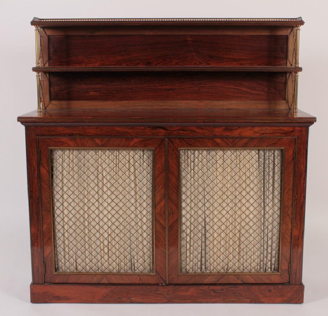 Regency Style Rosewood & Brass Server, 20th C.