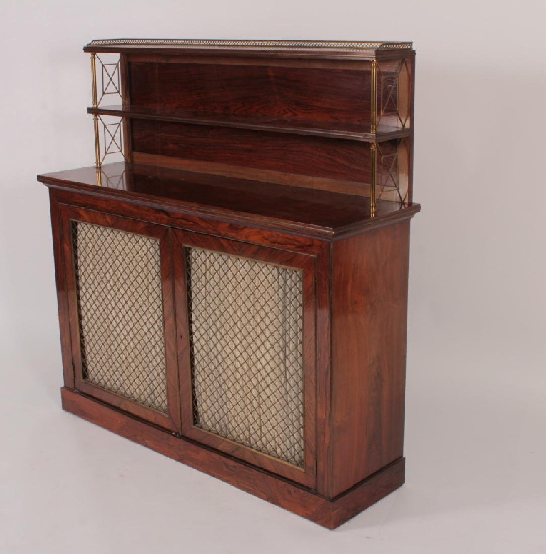 Regency Style Rosewood & Brass Server, 20th C. - 2