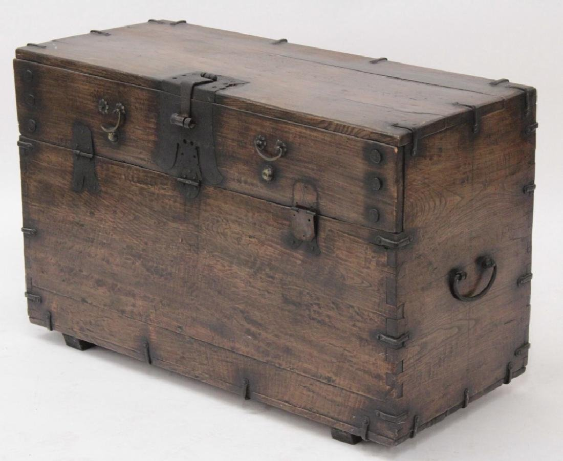 Korean Wood/Iron Bandaji Storage Chest, 19th C.