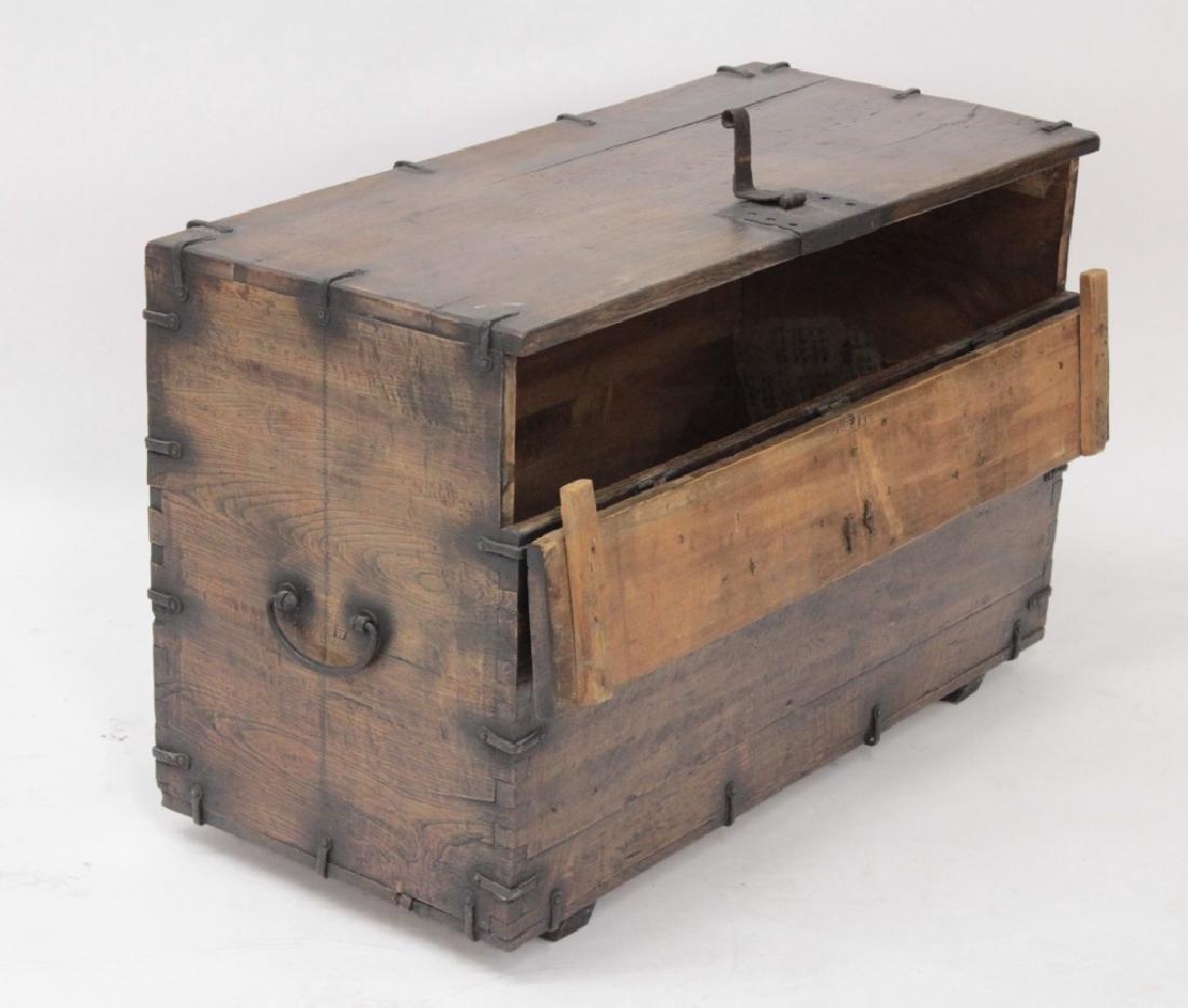 Korean Wood/Iron Bandaji Storage Chest, 19th C. - 2