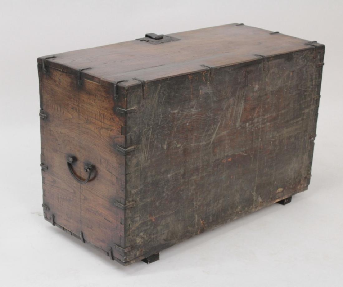 Korean Wood/Iron Bandaji Storage Chest, 19th C. - 3