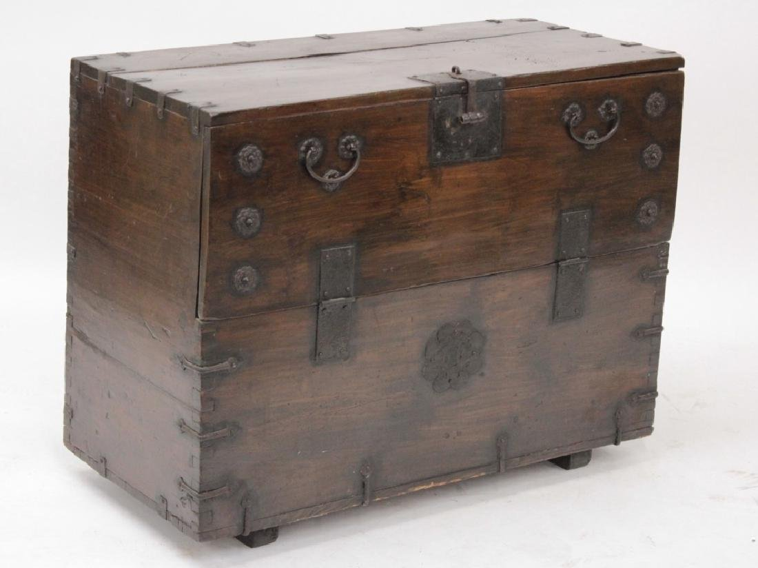 Korean Bandaji Wood/Iron Storage Chest,19th C.