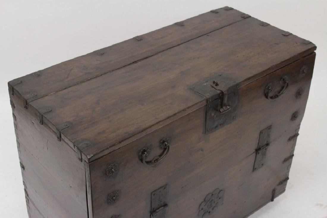 Korean Bandaji Wood/Iron Storage Chest,19th C. - 2
