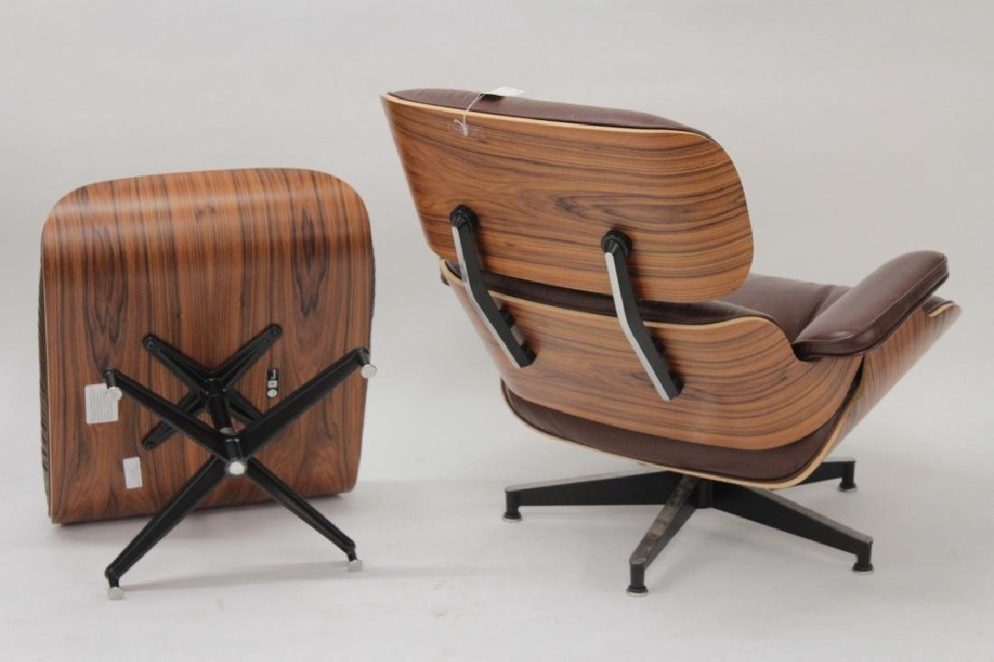 Herman Miller, Eames Chair and Ottoman, Leather. - 2