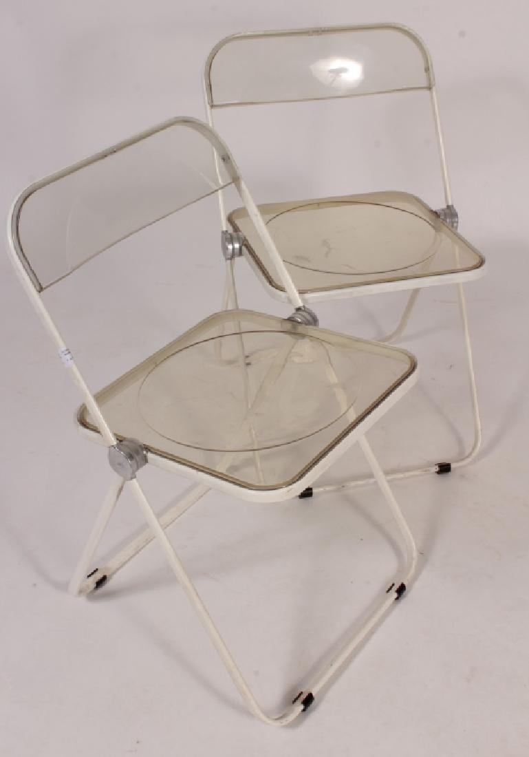 Set of 4 Mid-Century Acrylic Folding Chairs - 3