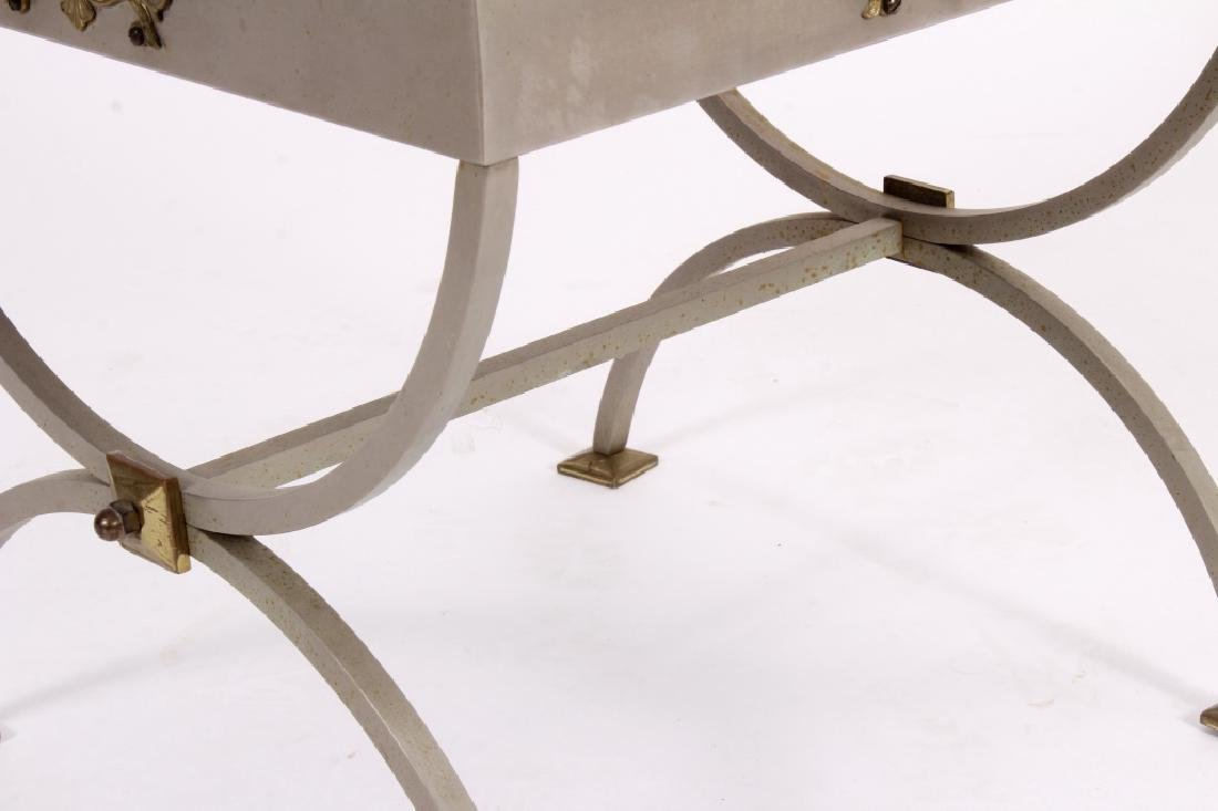 Neoclassical Style Metal and Glass Table - 3