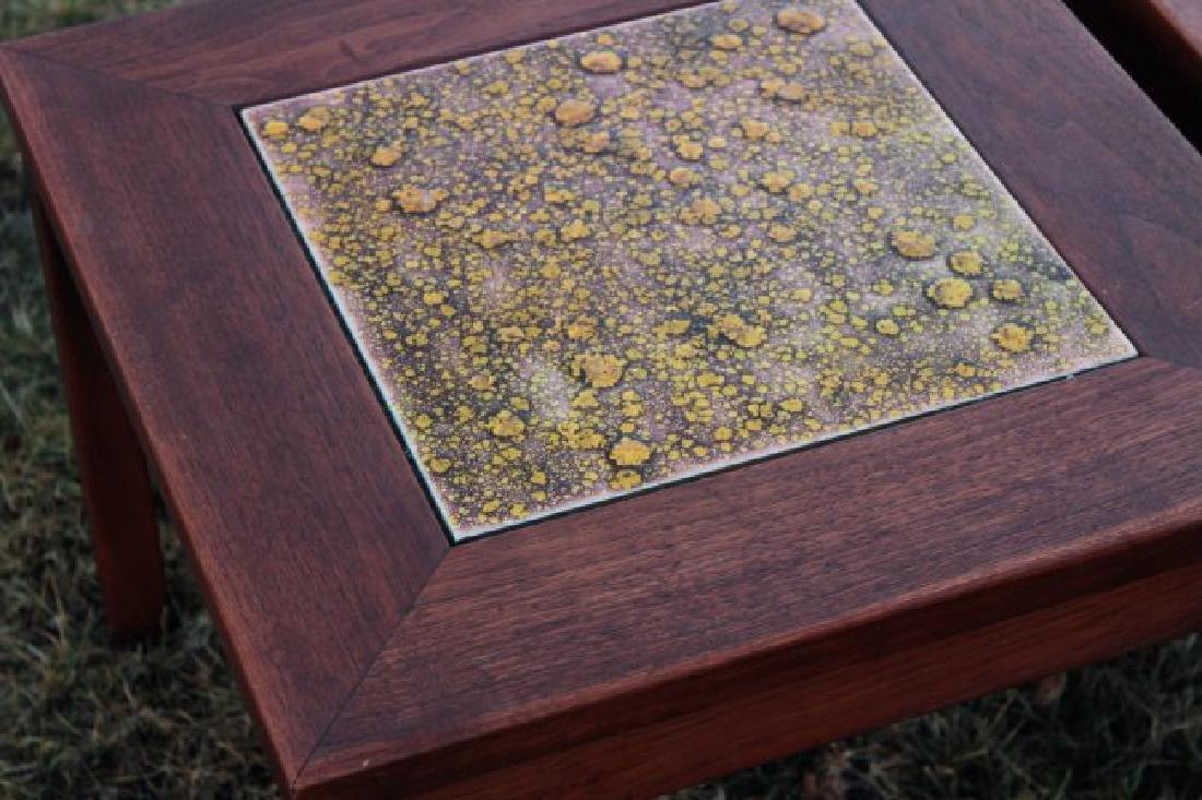 Brown Saltman Midcentury: 3 Walnut & Tile Tables - 3