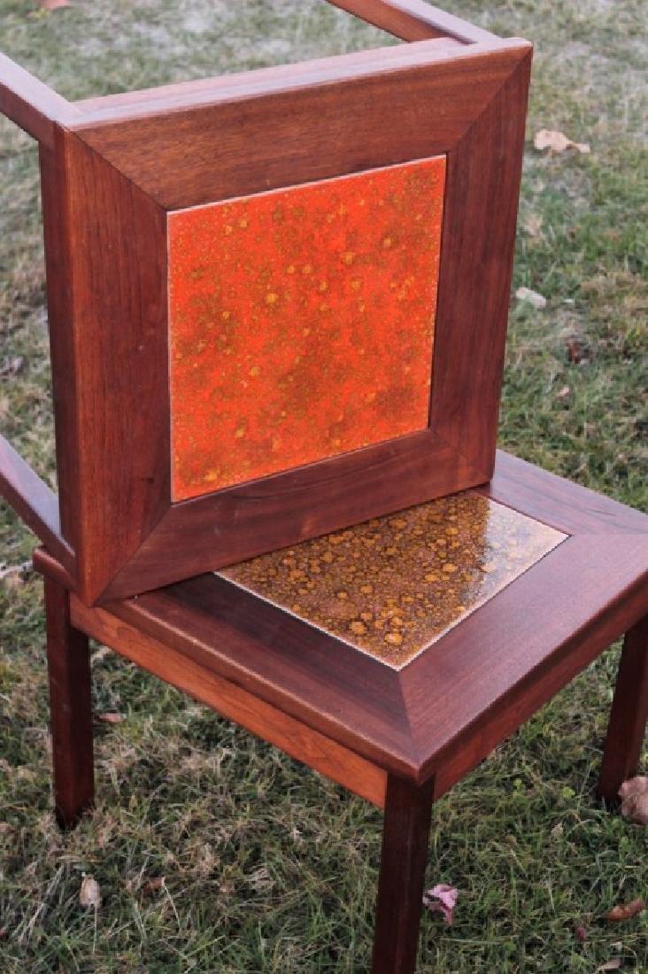 Brown Saltman Midcentury: 3 Walnut & Tile Tables - 4
