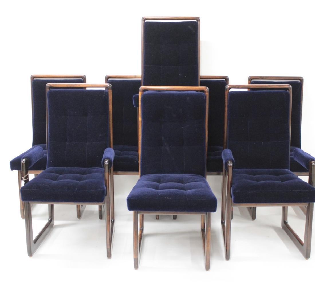 8 Vladimir Kagan Walnut Dining Chairs, c. 1970