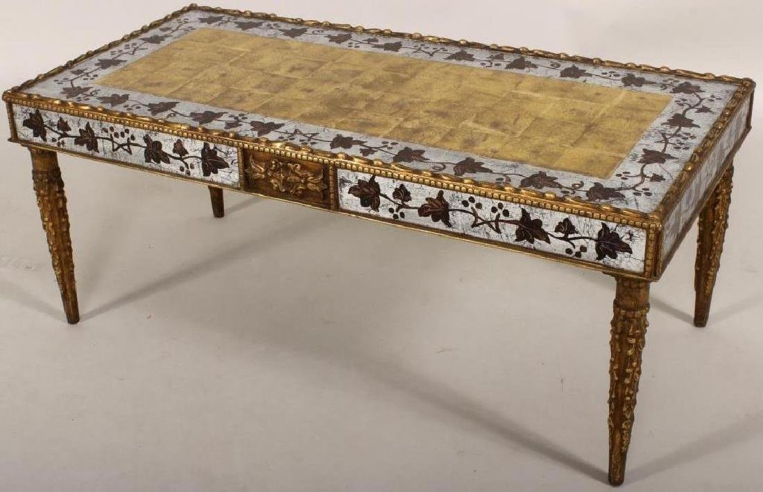 Eglomise Coffee Table, Gilt and Silvered
