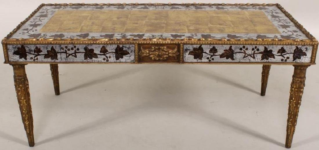 Eglomise Coffee Table, Gilt and Silvered - 2