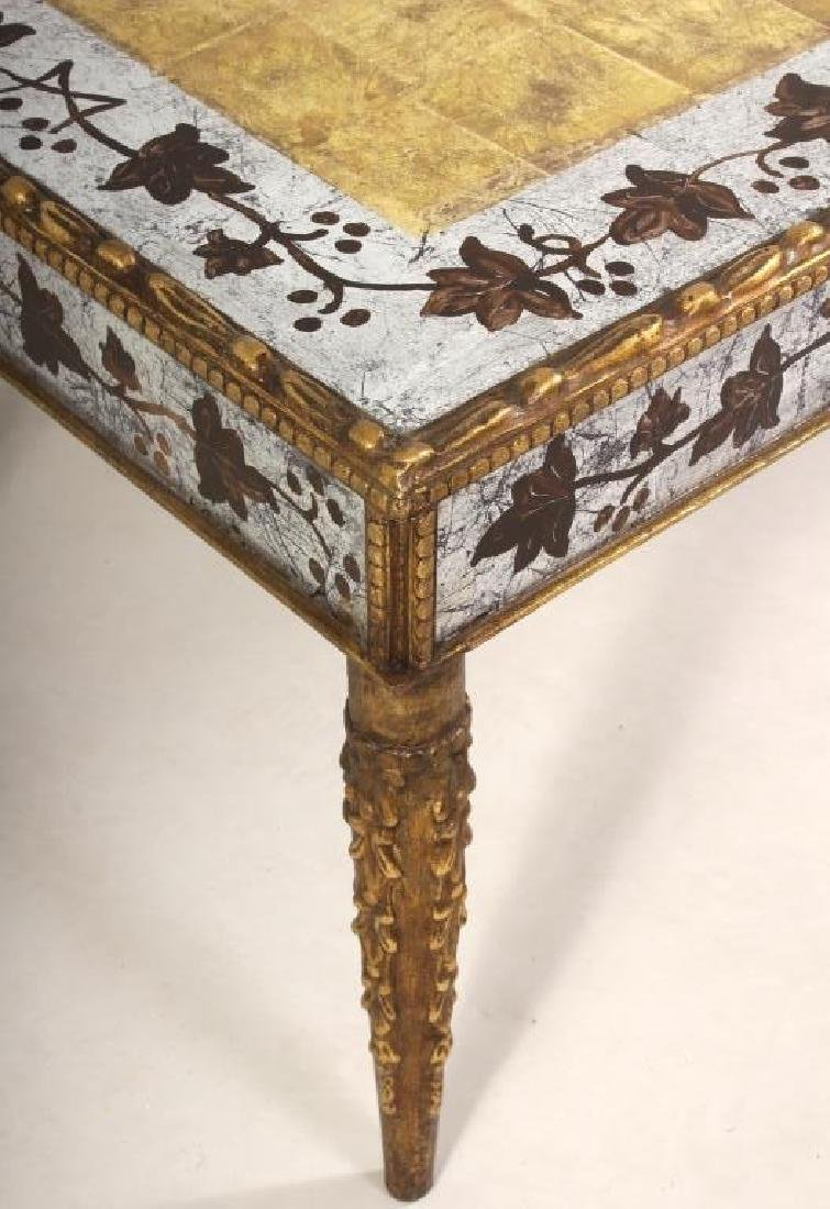Eglomise Coffee Table, Gilt and Silvered - 3