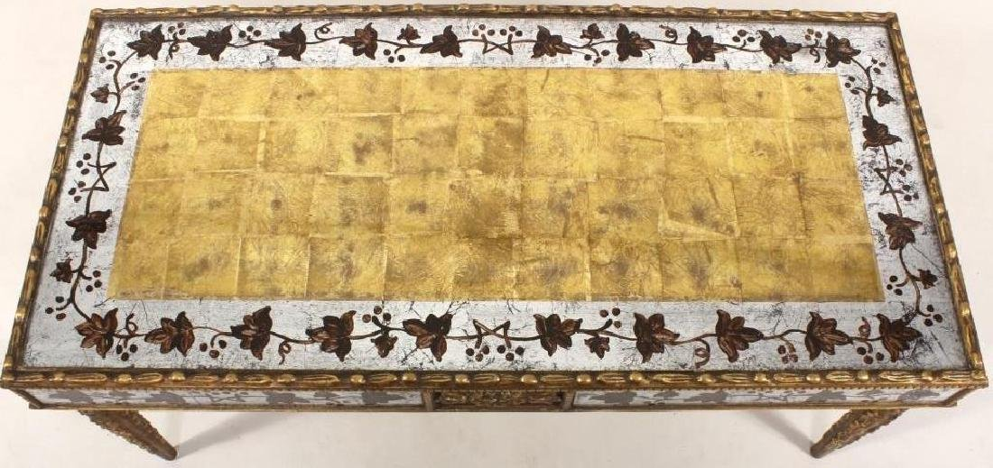 Eglomise Coffee Table, Gilt and Silvered - 4