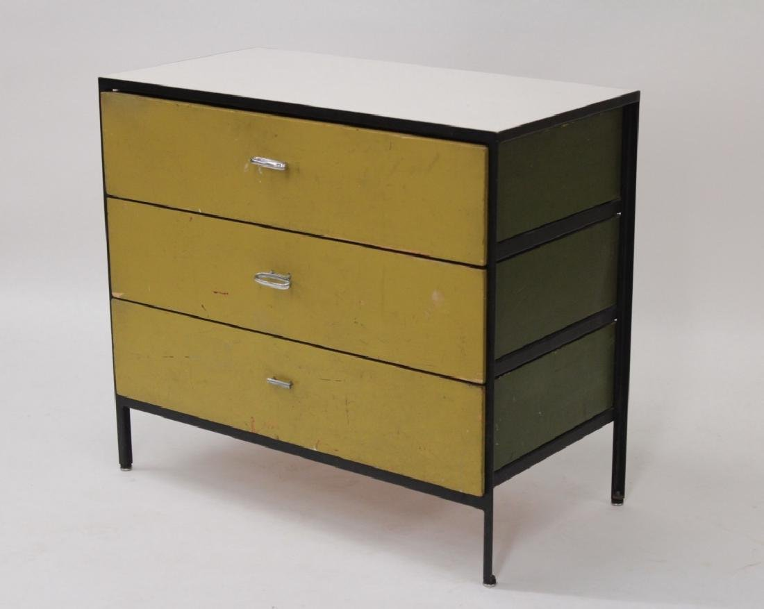 George Nelson Steel Frame 3 Drawer Chest