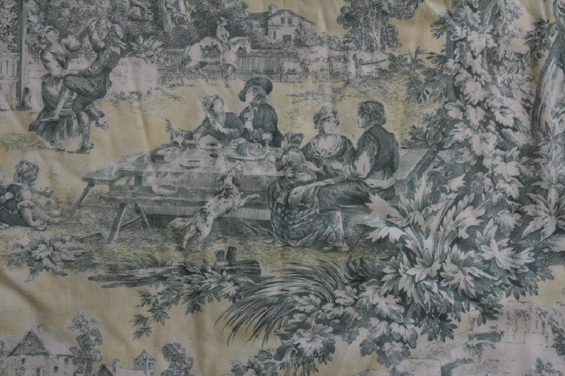 Custom Pastel Toile Draperies - 3