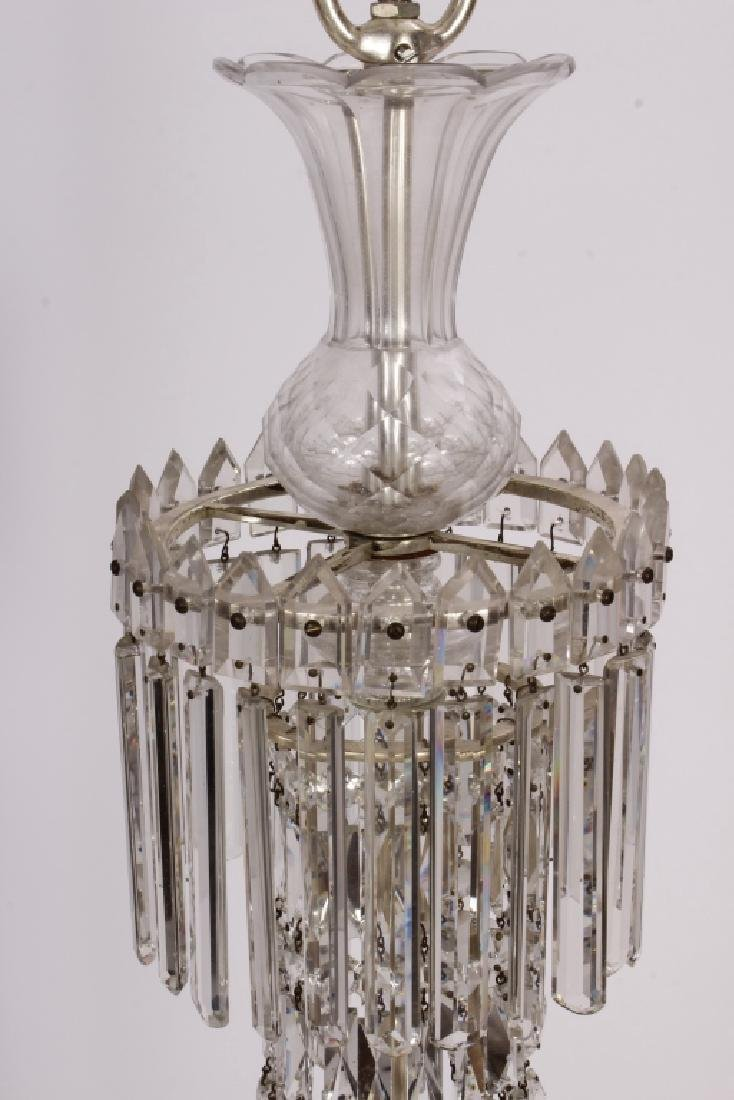 Early Victorian Tent / Waterfall 6 arm Chandelier - 2