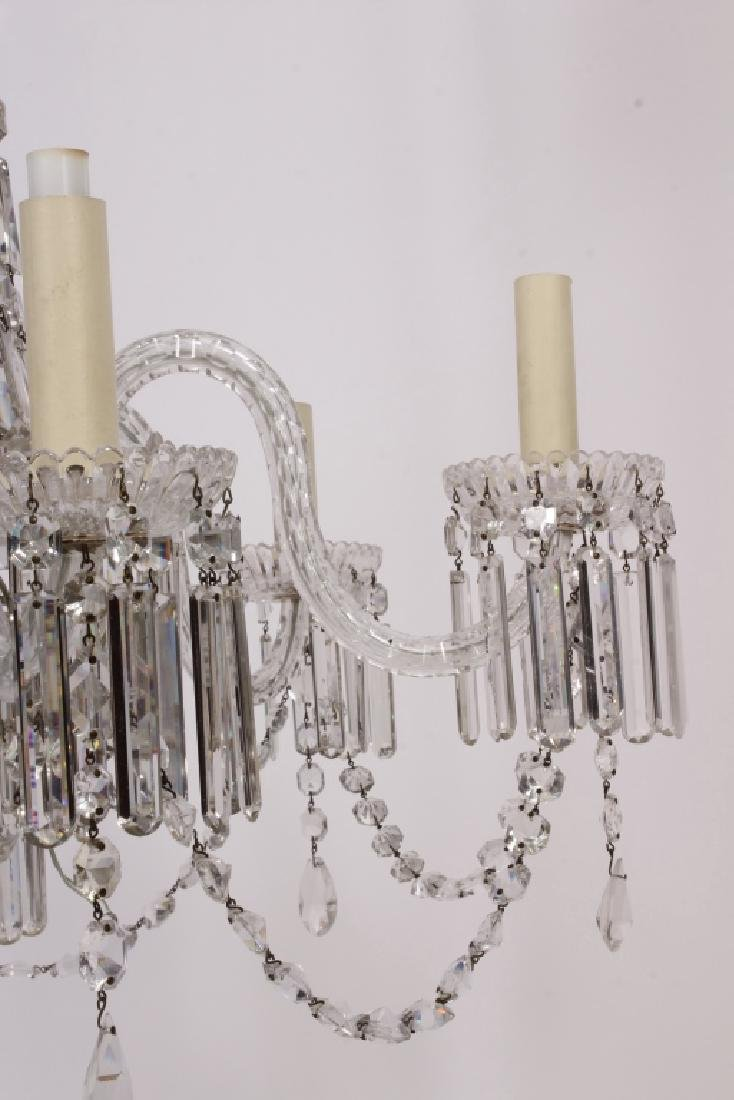 Early Victorian Tent / Waterfall 6 arm Chandelier - 4