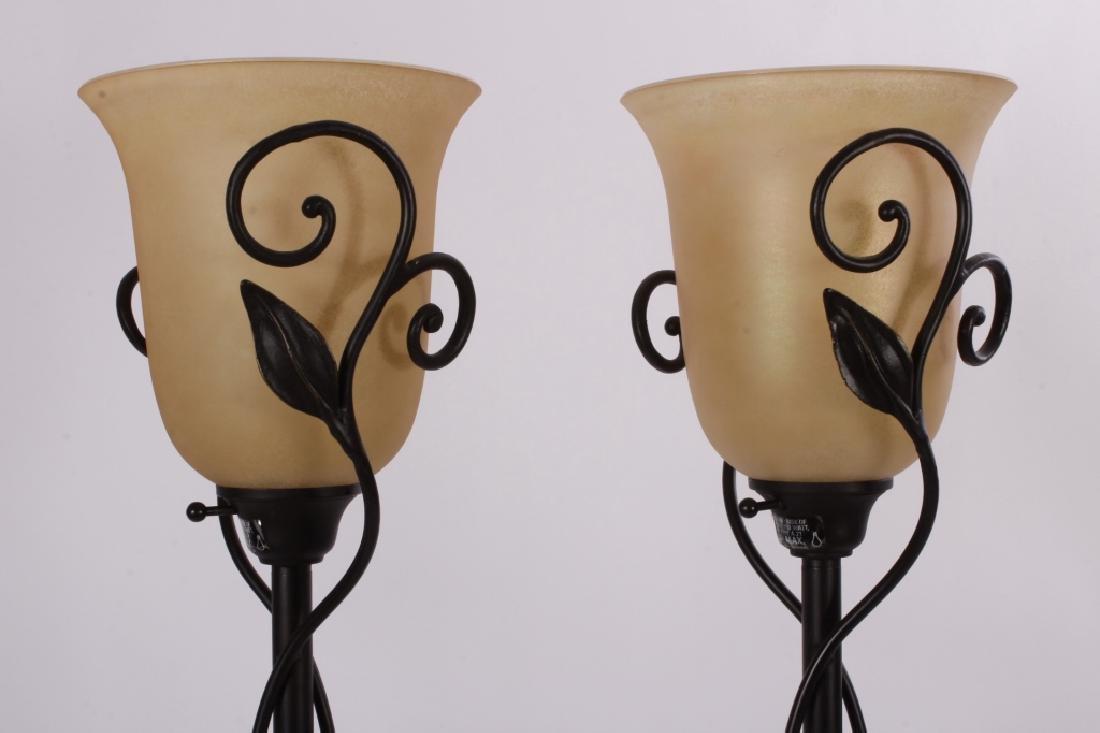"""4 """"Quoizel"""" Steel Floor Lamps,20th C. - 2"""